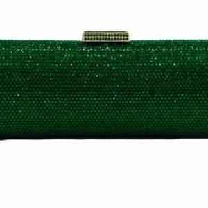 Emerald Green Rhinestone Clutch