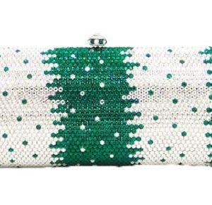 Green & White Custom Clutch