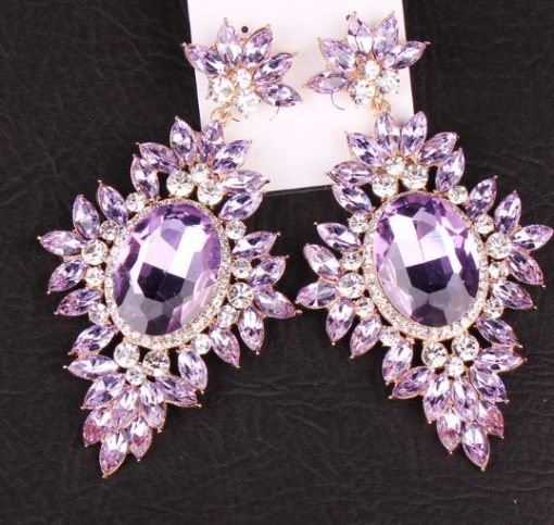 Large Bling Chandelier Earrings