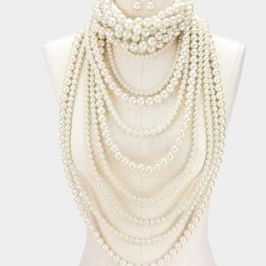 Multilayered Choker & Layered Pearl