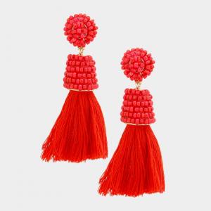 Red Tassell Earring