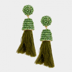 Green Tassell Earring