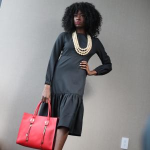 Executive Midi Black Dress