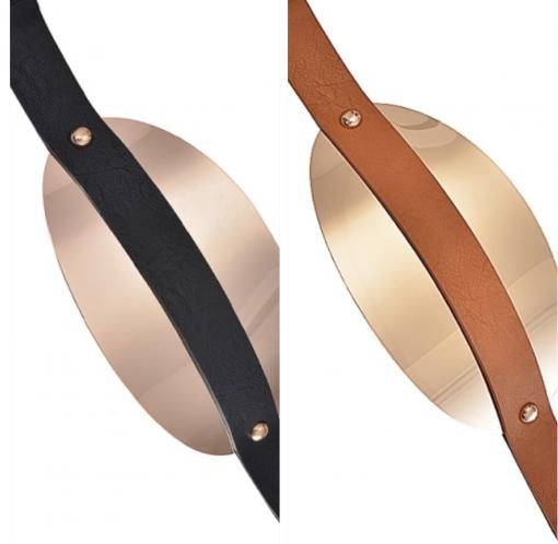 Metal Band Leather Belt