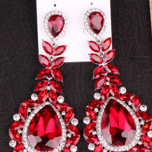 Red & Silver Bling Earrings