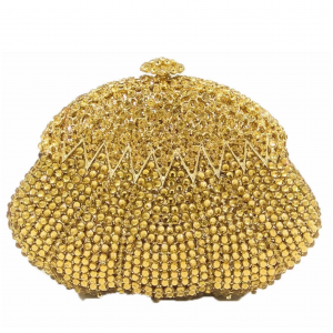 Gold Crystal Bling Clutch