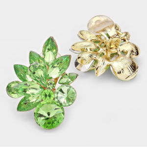 Green Floral Clip