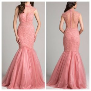 Pink Chic Choker-Style Gown