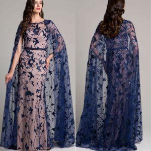 Diva Cape Sleeveless Gown