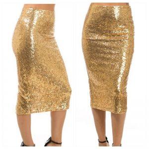 Gold Sequin Highwaist